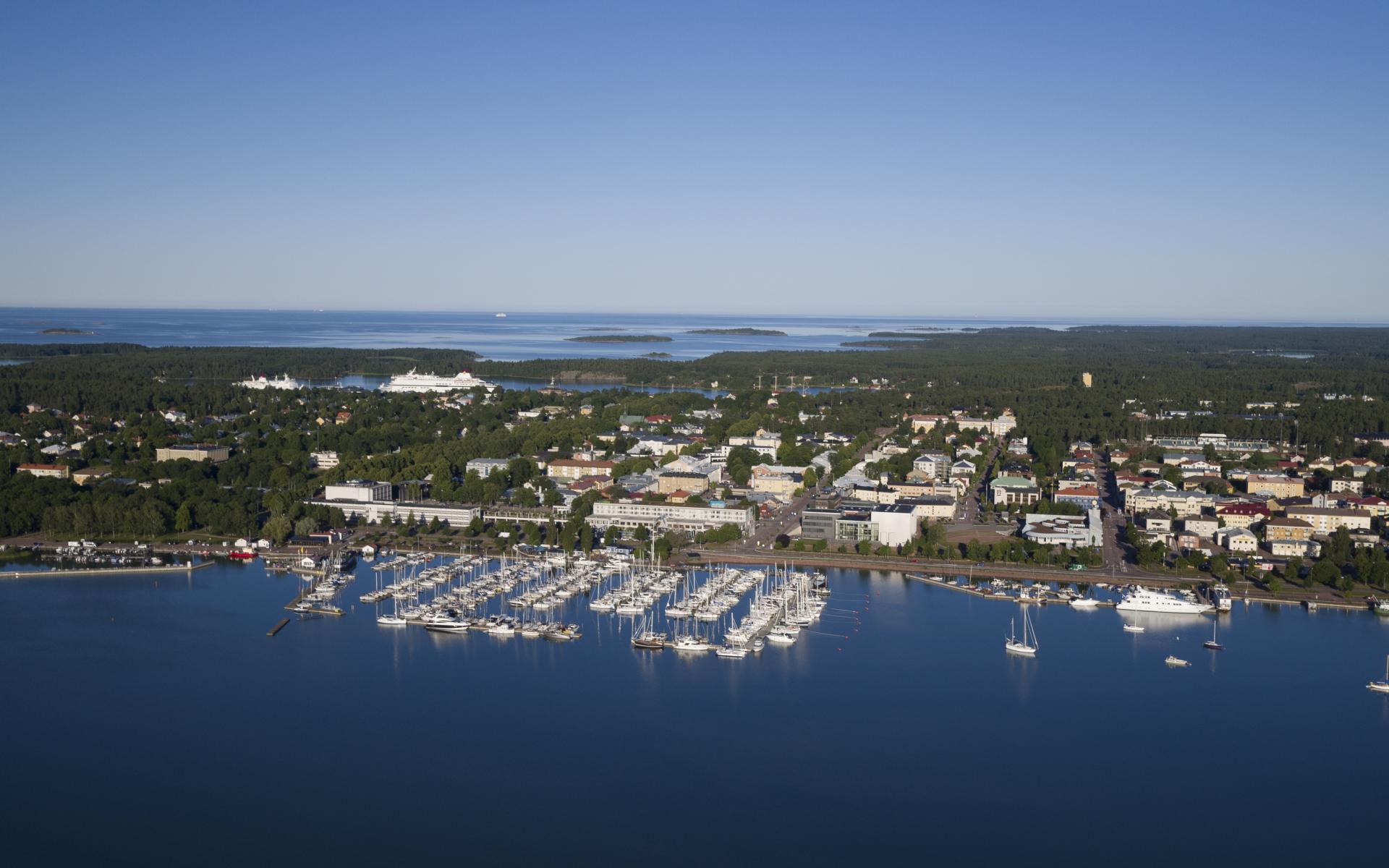 Mariehamn flygbild